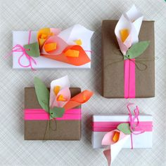 Paper Calla Lilies1 Examples Of Creative Gift Wrapping   Vital For Success Of Online Gift Stores