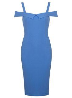 Pale Blue Bardot Bodycon Dress | Miss Selfridge