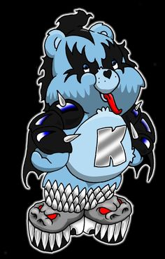 Iconic Care Bear Kiss Care Bears and Pop Culture Icon Mashups Care Bears, Cartoon Crossovers, Cartoon Characters, Care Bear Tattoos, Garfield And Odie, Gothic Tattoo, Girl Background, Bear Pictures, Little Pony