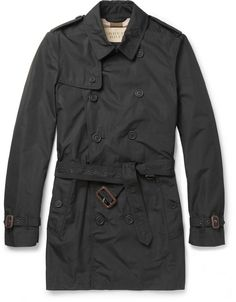 $895, Burberry Brit Showerproof Trench Coat. Sold by MR PORTER. Click for more info: https://lookastic.com/men/shop_items/89480/redirect
