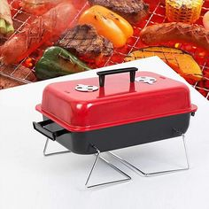 Portable Barbecue Charcoal Small BBQ Grill Stainless Steel Outdoor Cooking Barbecue Grill, Grilling, Portable Stove, Seychelles, Barbacoa, Sri Lanka, Macedonia, Puerto Rico, Antigua