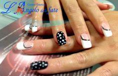 Mani di Fata #Black&White #nailart #LAngolodelleFate #Verona #Rovigo #Mantova #moda #Fashion #moda #autunno2014