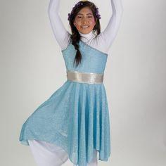Tunica de un hombro y cinturon de Royalty Designs Boutique para $80.00 en Square Market Praise Dance Wear, Praise Dance Dresses, Worship Dance, Color Guard Uniforms, Garment Of Praise, Dance Uniforms, Dance Outfits, Indian Fashion, Short Sleeve Dresses
