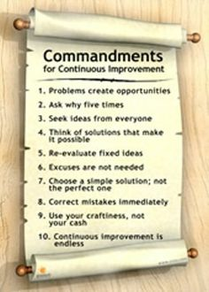 Commandments for Lean