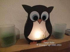 DIY owl lantern with printable template  Pinned by www.myowlbarn.com