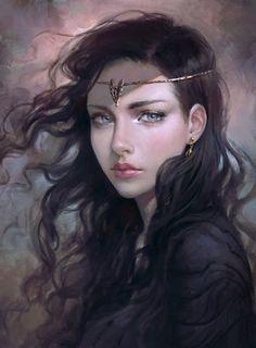As ilustrações de mulheres em mundos de fantasia de Ulyana Selene Regener