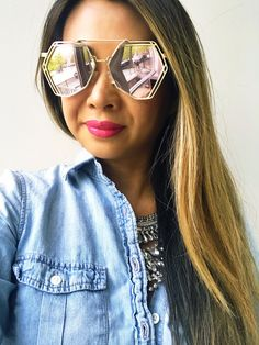 sunglasses, sunnies, cute sunglasses, summer fashion, spring fashion, summer sunglasses, pink sunglasses, what to wear, blue sunglasses, mirrored sunglasses, sunglasses outfit