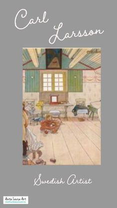 Carl Larsson was born into dire poverty but was able to raise himself up out of poverty through his artwork. He married Karin Bergöö, a fellow artist. Together they had eight children. Many of his most famous paintings come from the many family scenes he painted of his wife and children in their home in Sundborn, Sweden. #swedishart #CarlLarsson #GreatArtists #AnitaLouiseArt #ArtThatMakesYouSmile #GreatArt #AmazingArtists #Sweden #swedish #SwedishMasters #CarlLarssonHouse #AmazingArt People Art, Love People, Carl Larsson, Most Famous Paintings, Sweden Travel, Bts, Love Art, Great Artists, Amazing Art