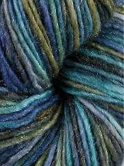 DK & Light Worsted Weight Yarn - Manos del Uruguay Silk Blend Deep Sea