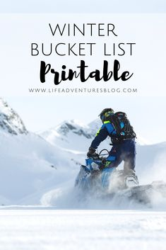 Make each season more memorable with a fun winter bucket list printable. Some fu. Make each season more memorable with a fun winter bucket list printable. Some fun winter family act bucket Fun List memorable printable season thingstodowinter winter Family Adventure, Life Is An Adventure, Adventure Travel, Utah Camping, Winter Wallpaper, Winter Painting, Winter Is Here, Winter Wonder, Winter House