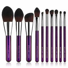Stellaire Chern Makeup brush set, 10 Pcs Premium Synthetic Cosmetic Brushes - make_up_pintennium Diy Makeup Brush, Makeup Brush Storage, Best Makeup Brushes, Makeup Brush Cleaner, Eye Makeup Art, How To Clean Makeup Brushes, Makeup Brush Holders, Beauty Makeup Tips, It Cosmetics Brushes