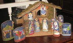 Nativity needlepoint - designed by Kelly Clark - love the tassels on the camel