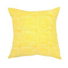 Sphere Print Yellow Cushion