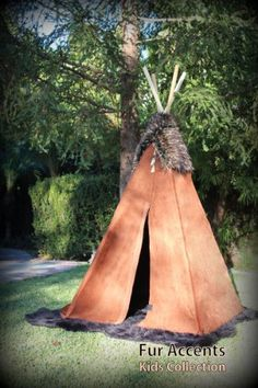 Fur Accents Childrens Play Tent / Indian Tee Pee (Adobe Rust) - deal and steals memes Childrens Play Tents, Indian Teepee, Tent Room, Teepee Kids, Discount Lighting, Beaded Trim, Kids Playing, Rugs On Carpet, Cool Kids