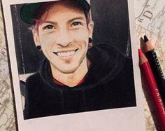 Único amigo  impresión de dibujo de Polaroid por thisismyshopbye