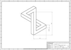 Isometric Drawing, Drawing Exercises, 3d Drawings, Technical Drawing, Autocad, Blue Prints, Engineering, Wall, Painting