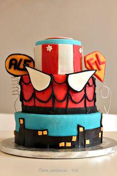 Superheroes-cake