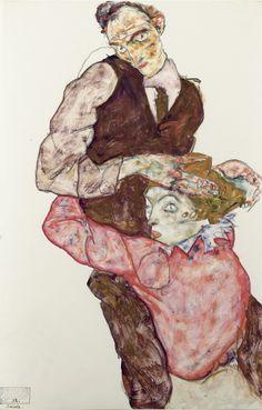Egon Schiele - Lovers, 1914/15 -  Leopold Museum, Wien