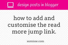 .jump-link { text-align: right; /* Align Right of Post - can also use left or center */ background: #333333; /* Change Background Colour for...