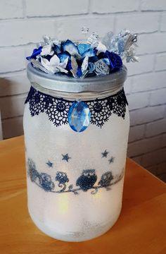 Owl Luminary Jar