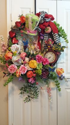 Alice In Wonderland wreath - Mom & I just keep getting better!