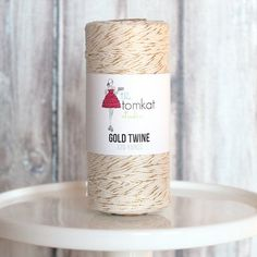 NEW TO THE SHOP :: Twine - Gold Shimmer - 120 Yds