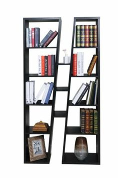 Enitial Lab Stanton Twin Bookcase/Display Cabinet, Black by Enitial Lab. $239.78. Product is made of medium fiber board construction; laminate black finish. Measures 37.9-inch wide by 11.8-inch deep by 70.9-inch high; 30-days hassle-free replacement parts warranty. Add a stylish touch to your living space with our modern style display cabinet. 8-Shelves on each side plus three additional center shelves; backless design; display stand is a perfect room divider. ...