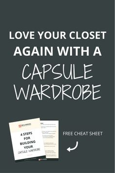 When you feel like you don't have anything to wear, it's probably because you have TOO MANY options. Capsule wardrobes help you fall in love with your closet again by limiting your options and expanding your outfit choices. Click through to learn how to do it.