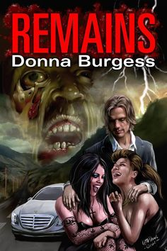 The cover for Remains by Donna Burgess. This was  one of the first Indie covers I did and features a self portrait in the background All art Copyright Keith Draws.