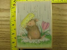 Stampinsisters Rubber Stamp House Mouse Good Clean Fun Stampabilities #932 #Stampabilities