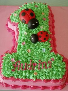 Lady bug cake 1st Birthday Cakes, First Birthday Parties, Girl Birthday, First Birthdays, Birthday Ideas, Ladybug Cakes, Ladybug Party, Ladybug Decor, Cute Cakes