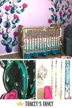 I snapped a few pictures of this beautiful boho cactus baby shower and nursery to share with you….to possibly inspire you for any upcoming fun gathering you might have planned! - By Tracey's Fancy Baby Shower Fancy Baby Shower, Boho Baby Shower, Girl Nursery, Nursery Decor, Baby Door Hangers, Cactus Decor, Baby Couture, Hand Painted Signs, Diy Wall Art