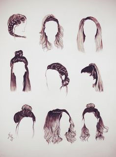 Pin By Genveive Thatch On Aesthetic Hair Sketch Hair Styles – Lewis Patrick - Hairstyle African Hairstyles, Hairstyles With Bangs, Braided Hairstyles, Cool Hairstyles, Hairstyles 2018, Drawing Hairstyles, Straight Hairstyles For Long Hair, Zoella Hairstyles, Hair Styles For Long Hair For School