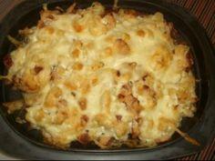 Sütőben sült sztrapacska sajtos szalonnával | NOSALTY Cauliflower, Macaroni And Cheese, Vegetables, Cooking, Ethnic Recipes, Food, Kochen, Kitchen, Cauliflowers