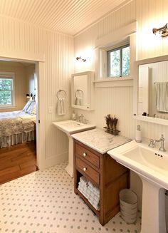 Two Separate Sinks And Vanities Bathroom Quartz Bathroom