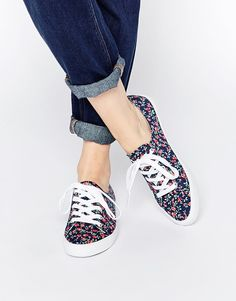 Image 1 ofASOS DAGNALL Canvas Lace Up Trainers