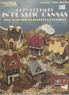 Cozy Cottages In Plastic Canvas - Leisure Arts #1190 - Plastic Canvas Pattern