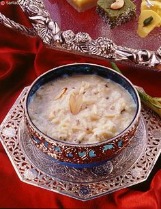 Kheer - Indian sweet dish made of milk and rice enriched with dryfruits