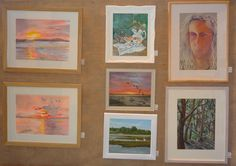 Screen set up for the 67th Orwell Art Club Annual Exhibition in 2014.