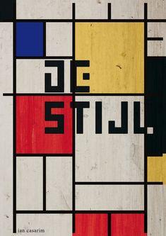 Pôster inspirado no movimento De Stijl.