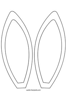 Bunny Ears Template Coloring Page