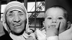 Madre Teresa -5 al grande giorno! Madre Santa, prega per i bambini!