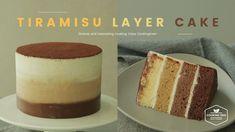 티라미수 레이어 케이크 만들기, 옴브레 케이크 : Tiramisu Layer Cake Recipe, ombre cake - Coo...