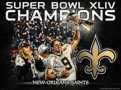 Super Bowl XLIV - New Orleans Saints - Who was the Quarterback who lead this 31-17 win over the Indianapolis Colts?  Click pic to learn...