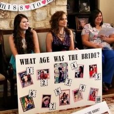 what age was the bride bridal shower game You are in the right place about bachelorette party bags Here we offer you the most beautiful pictures about the nashville bachelorette party you are looking Bridal Shower Planning, Wedding Shower Games, Bridal Shower Party, Wedding Games, Wedding Showers, Wedding Parties, Bridal Shower Activities, Themed Bridal Showers, Backyard Bridal Showers