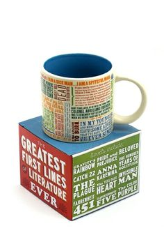 Greatest first lines in literature mug.