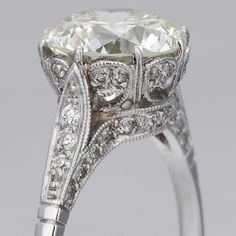 Edwardian Engagement Ring. Love the detail!