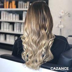 SO GLAMOUROUS !  Pour répondre aux attentes de Myriam, qui souhaitait réveiller sa couleur qu'elle trouvait un peu terne, Marie réalise un balayage pour créer du contraste, puis applique un gloss Light Sand pour la douceur et un bonus de brillance. Benjamin restructure la coupe et procède à un coiffage tout en souplesse. Résultat : un surcroît de relief et des ondulations douces pour un look résolument glamour !   #salon #coiffure #hairstyle #morethanblonde #labiosthetique #glamourous Relief, Hair Extensions, Marie, Applique, Hair Cuts, Hair Color, Glamour, Long Hair Styles, Beauty