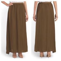 """Host Pick NWT bronze olive maxi skirt Brand new with tags and never worn. 42"""" long. Elastic waist. No PP or trades. Philosophy Skirts Maxi"""