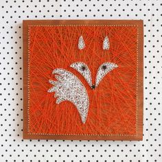 Nursery decoration, fox string art made on reclaimed wood planks, perfect decor for kids room or a gift for newborn, wall decoration by GoodLights This very bright Mr. Fox is just the thing to make any room look more interesting and homey. He's really shy by nature but ladies love him and also he is 100% handmade :) He will be a perfect match to your kids room or nursery and actually decoration will fit any room where you want to add a bit more fun and hip decoration.